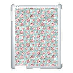 Floral Pattern Apple Ipad 3/4 Case (white) by Valentinaart