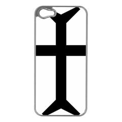 Eastern Syriac Cross Apple Iphone 5 Case (silver) by abbeyz71