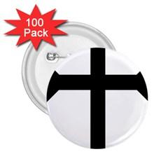 Eastern Syriac Cross 2 25  Buttons (100 Pack)  by abbeyz71