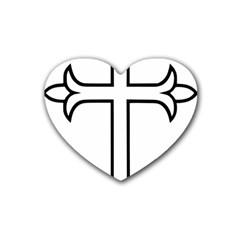Western Syriac Cross Heart Coaster (4 Pack)  by abbeyz71