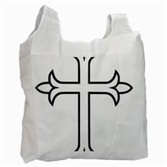 Western Syriac Cross Recycle Bag (one Side) by abbeyz71