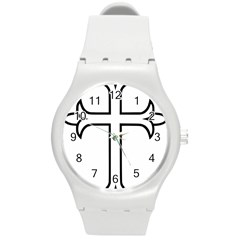 Western Syriac Cross Round Plastic Sport Watch (m) by abbeyz71