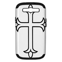 Western Syriac Cross Samsung Galaxy S Iii Hardshell Case (pc+silicone) by abbeyz71