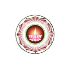 Ayyavazhi Symbol  Hat Clip Ball Marker (4 Pack) by abbeyz71