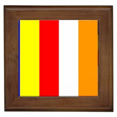 International Flag Of Buddhism Framed Tiles by abbeyz71