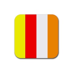 International Flag Of Buddhism Rubber Square Coaster (4 Pack)  by abbeyz71