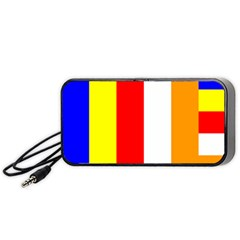 International Flag Of Buddhism Portable Speaker (black) by abbeyz71