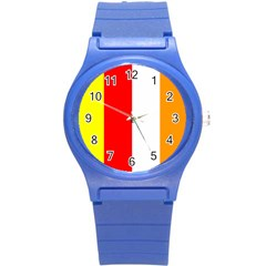 International Flag Of Buddhism Round Plastic Sport Watch (s) by abbeyz71