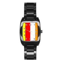 International Flag Of Buddhism Stainless Steel Barrel Watch by abbeyz71