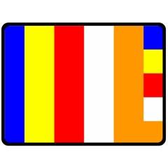 International Flag Of Buddhism Double Sided Fleece Blanket (large)  by abbeyz71