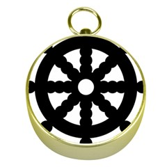 Dharmacakra Gold Compasses by abbeyz71