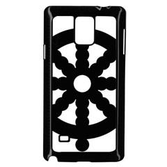 Dharmacakra Samsung Galaxy Note 4 Case (black) by abbeyz71