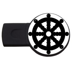 Dharmacakra Usb Flash Drive Round (2 Gb) by abbeyz71
