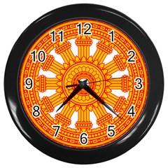 Dharmacakra Wall Clocks (black) by abbeyz71