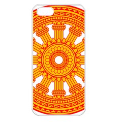 Dharmacakra Apple Iphone 5 Seamless Case (white) by abbeyz71