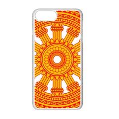 Dharmacakra Apple Iphone 7 Plus White Seamless Case by abbeyz71