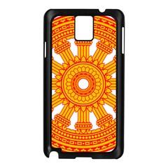 Dharmacakra Samsung Galaxy Note 3 N9005 Case (black) by abbeyz71