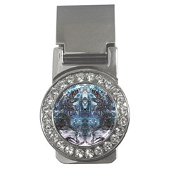 Angel Wings Blue Grunge Texture Money Clips (cz)  by CrypticFragmentsDesign