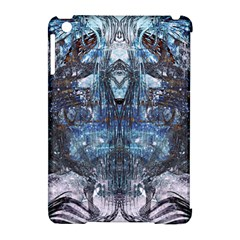 Angel Wings Blue Grunge Texture Apple Ipad Mini Hardshell Case (compatible With Smart Cover) by CrypticFragmentsDesign