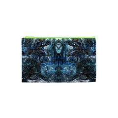 Angel Wings Blue Grunge Texture Cosmetic Bag (xs) by CrypticFragmentsDesign