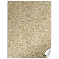 Old Floral Crochet Lace Pattern Beige Bleached Canvas 18  X 24   by EDDArt