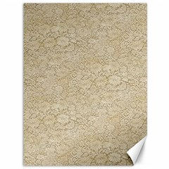 Old Floral Crochet Lace Pattern Beige Bleached Canvas 36  X 48   by EDDArt