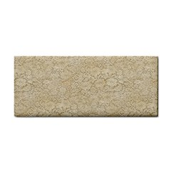 Old Floral Crochet Lace Pattern Beige Bleached Cosmetic Storage Cases by EDDArt