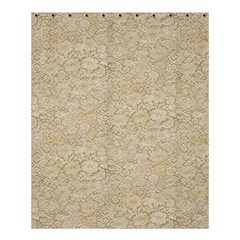 Old Floral Crochet Lace Pattern Beige Bleached Shower Curtain 60  X 72  (medium)  by EDDArt