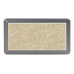 Old Floral Crochet Lace Pattern Beige Bleached Memory Card Reader (mini) by EDDArt