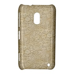 Old Floral Crochet Lace Pattern Beige Bleached Nokia Lumia 620 by EDDArt