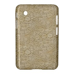 Old Floral Crochet Lace Pattern Beige Bleached Samsung Galaxy Tab 2 (7 ) P3100 Hardshell Case  by EDDArt