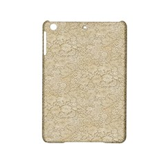 Old Floral Crochet Lace Pattern Beige Bleached Ipad Mini 2 Hardshell Cases by EDDArt