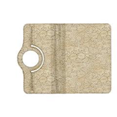 Old Floral Crochet Lace Pattern Beige Bleached Kindle Fire Hd (2013) Flip 360 Case by EDDArt