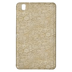 Old Floral Crochet Lace Pattern Beige Bleached Samsung Galaxy Tab Pro 8 4 Hardshell Case by EDDArt