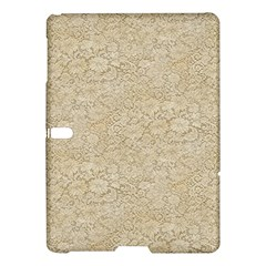 Old Floral Crochet Lace Pattern Beige Bleached Samsung Galaxy Tab S (10 5 ) Hardshell Case  by EDDArt