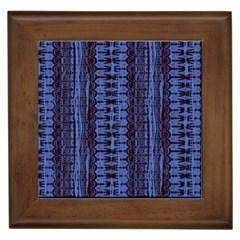 Wrinkly Batik Pattern   Blue Black Framed Tiles by EDDArt