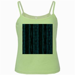Wrinkly Batik Pattern   Blue Black Green Spaghetti Tank by EDDArt