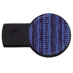 Wrinkly Batik Pattern   Blue Black Usb Flash Drive Round (2 Gb) by EDDArt
