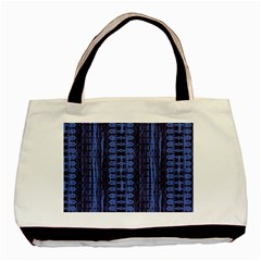 Wrinkly Batik Pattern   Blue Black Basic Tote Bag by EDDArt