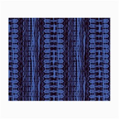 Wrinkly Batik Pattern   Blue Black Small Glasses Cloth (2 Side) by EDDArt