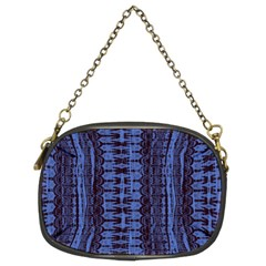 Wrinkly Batik Pattern   Blue Black Chain Purses (two Sides)  by EDDArt
