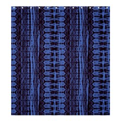 Wrinkly Batik Pattern   Blue Black Shower Curtain 66  X 72  (large)  by EDDArt