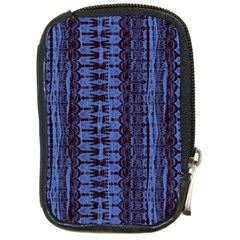 Wrinkly Batik Pattern   Blue Black Compact Camera Cases by EDDArt