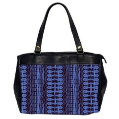 Wrinkly Batik Pattern   Blue Black Office Handbags (2 Sides)  by EDDArt