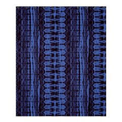 Wrinkly Batik Pattern   Blue Black Shower Curtain 60  X 72  (medium)  by EDDArt