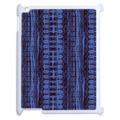 Wrinkly Batik Pattern   Blue Black Apple Ipad 2 Case (white) by EDDArt