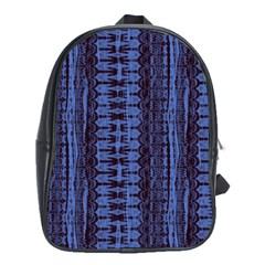 Wrinkly Batik Pattern   Blue Black School Bags (xl)  by EDDArt