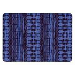 Wrinkly Batik Pattern   Blue Black Samsung Galaxy Tab 8 9  P7300 Flip Case by EDDArt