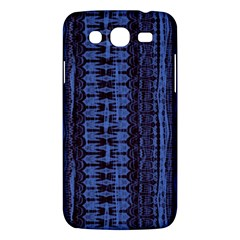 Wrinkly Batik Pattern   Blue Black Samsung Galaxy Mega 5 8 I9152 Hardshell Case  by EDDArt