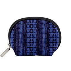 Wrinkly Batik Pattern   Blue Black Accessory Pouches (small)  by EDDArt